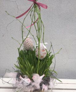 Velikonoční osení v košíčku