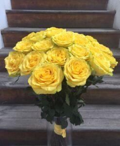 Žluté růže 30 ks