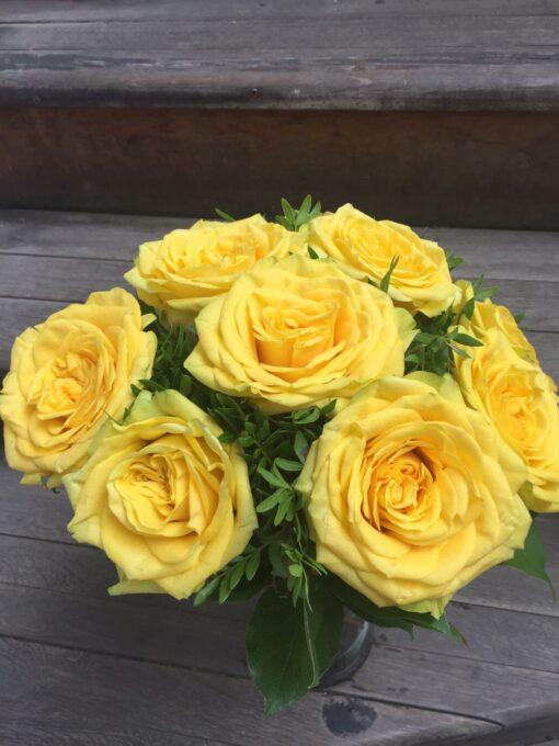 Žluté růže 9 ks