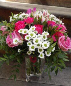Něžná růžovo - bílá kytice