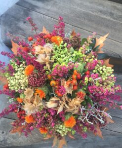 Podzimní dokonale kulatá kytice