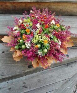 Podzimní kytice s vřesem