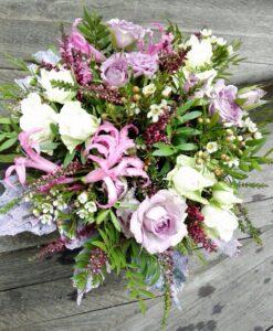 Podzimní kytice do fialova