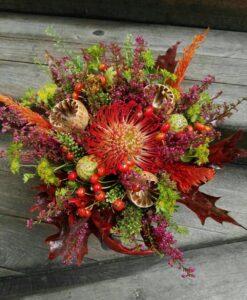 Podzimní kytice s makovicemi