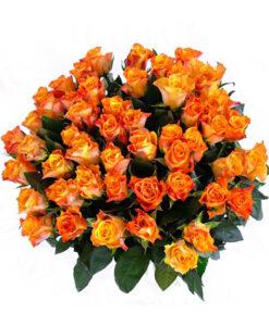 Kytice 50 oranžových růží